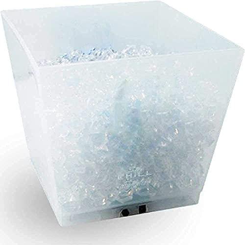 YQG Cubo Enfriador, Cubo de Hielo con Cambio de Color LED de 10 l, enfriadores de Botellas de Vino adecuados para Bares, cafeterías, Tiendas de Bebidas, Fiestas, hoteles, vitrinas y Otros lugare