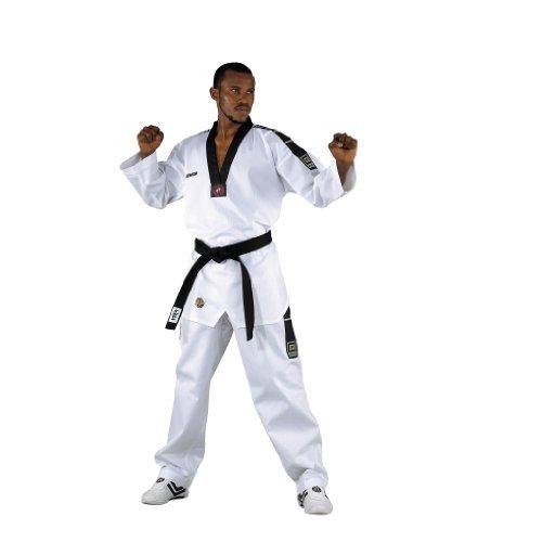 KWON Dobok TKD Anzug Grand Victory M Bestickung ohne Gürtel, Weiß, 160, 1017160 by Kwon