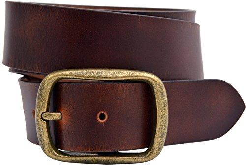 Full Grain Buffalo Leather Aniline Finish Belt -...