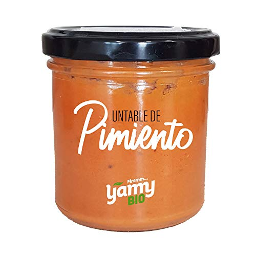 Yamy BIO Crema Untable Vegetal de Pimiento - Pack de 6 Frascos x 145 gr - Producto Ecológico elaborado en Navarra