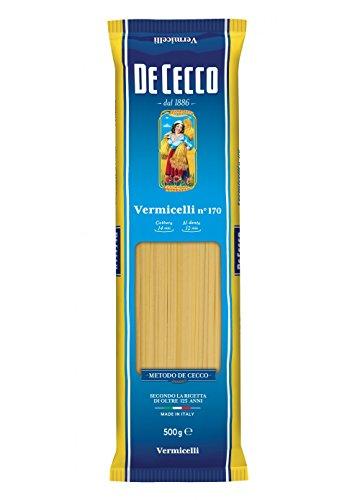 10x Pasta De Cecco 100% Italienisch Vermicelli n. 170 Nudeln 500g