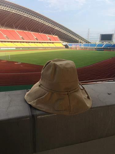 UNBRACE Sun HatsSunscreen Opvouwbare Effen kleur String Katoen en Linnen Zomer Reisdoek Bucket caps