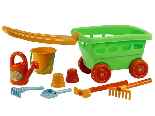 Ecoiffier 350 - Kindertraktor mit Anhänger und Rasenmäher