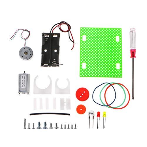 smallJUN Mini Elektrogenerator Rad Motor Modell DIY Spielzeug für Kinder Led Bildung Wissenschaft Experiment Geschenkkombination Generator
