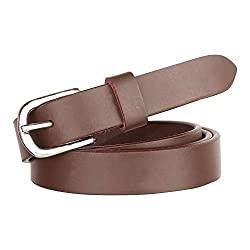 Amicraft Womens Casual and Formal Leather Belt (Brown, Free Size)