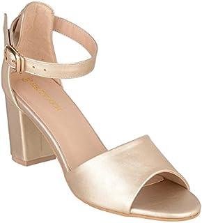 Shuz Touch Synthetic Women Fashion Sandal Golden-37