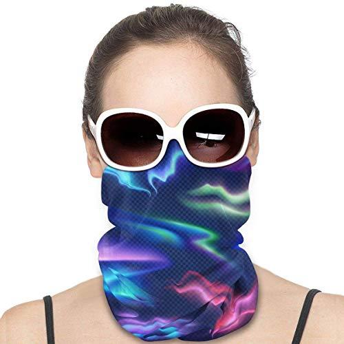 Quintion Robeson Colorido Aurora Boreal Conjunto Transparente Headwear Cuello Polaina Headwrap Pasamontañas Casco Forro Bufanda Deportes Casual para Hombres Mujeres
