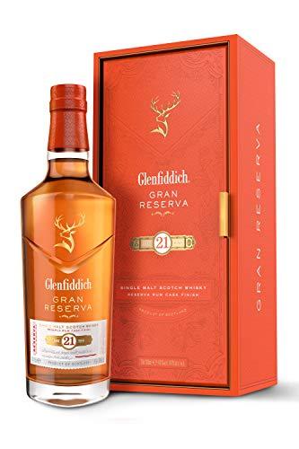 Glenfiddich Single Malt Scotch Whisky Reserva 21 Jahre mit Geschenkverpackung (1 x 0,7 l) – besondere Variante des meistverkauften Malt Sctoch Whisky der Welt