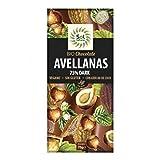 SOLNATURAL Tableta Chocolate Dark 70% AVELLANAS Bio 70 g, Estándar, Único