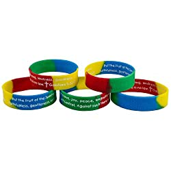 ruit of the Spirit Bible Quote Silicone Bracelet