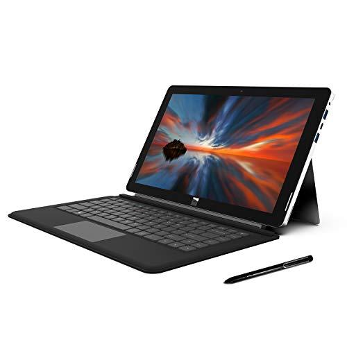 XIDU 13.3-inch PhilPad 2 in 1 Laptop Tablet IPS Touchscreen 2K (2560X1440) Intel N3350 6GB RAM 64GB ROM, Metal Body, WiFi, Bluetooth, Lightweight, USB Type-C, Detachable Keyboard,Stylus Pen