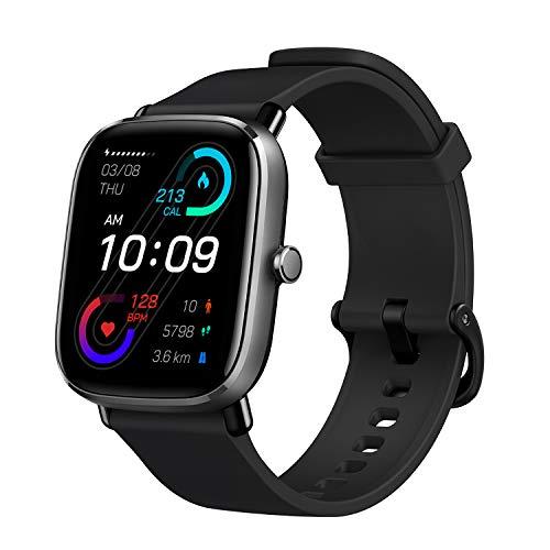Amazfit GTS 2 Mini Reloj Inteligente Smartwatch Duración de Batería14 días 70 Modos Deportivos Medición del Nivel SpO2 Monitorización de Frecuencia Cardíaca, (Color Negro)