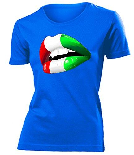 Italien Italia Italy Fan t Shirt Artikel 4538 Fuss Ball World Cup Maglia EM 2020 WM 2022 Trikot Look Flagge Fahne Team Frauen Damen Mädchen S