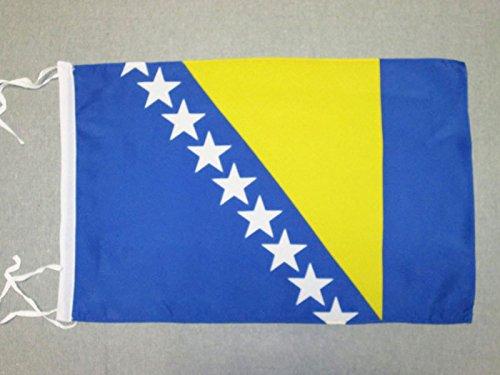 AZ FLAG Flagge BOSNIEN UND HERZEGOWINA 45x30cm mit Kordel - BOSNISCHE Fahne 30 x 45 cm - flaggen Top Qualität