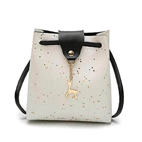 Lässige Bucket Bag mit Rotwild-Muster für Frauen hängenden Beutel (weiß) 1PC, Beutel für Frauen Bucket Bag Bucket-Beutel für Frauen Bucket-Beutel für Frauen Glühender Bucket Bag Umhängetasche