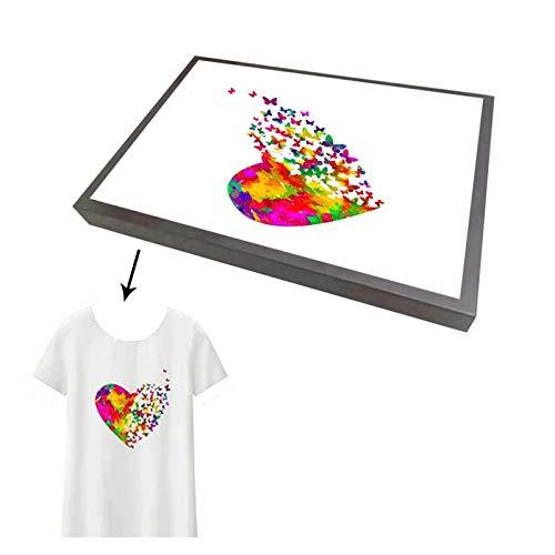 MMD Impresora UV Piezas Profesional de Prendas de Vestir Fixture for UV Digital A3 Impresora, Impresora A4 Textiles Bandeja for DTG (Color : A4)