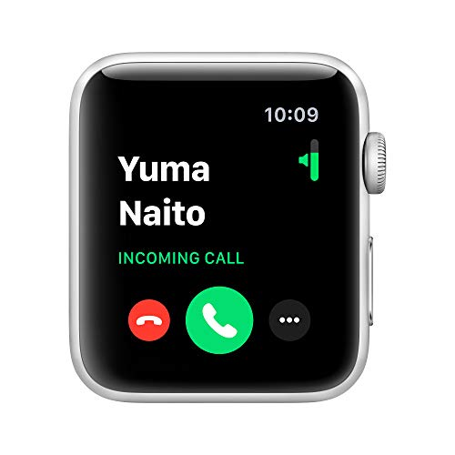 Apple Watch Series 3 (GPS, 42mm) Aluminiumgehäuse Silber - Sportarmband Weiß