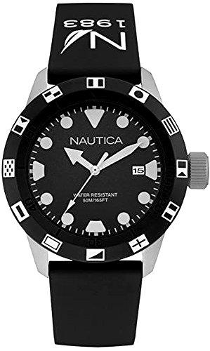 Nautica nsr-100 Flag Montre Homme Analogique Quartz avec Bracelet Caoutchouc NAI09509G