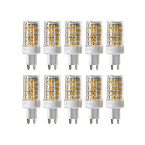 ALBN 10PCS dimmerabili G9 10W lampade, 4000K 950 LM 86X2835 SMD,CRI 80,Sostituzione 90W Alogena,Ceramica Lampada LED Bianco Bianco, AC 220-240V, 360 ° Angolo di visuale, lampadine LED