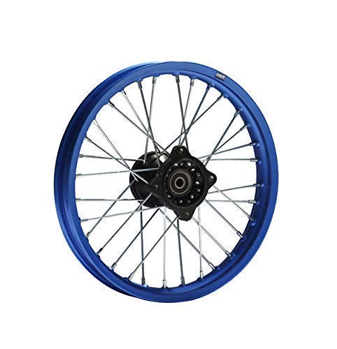 Hmparts Cerchio Alluminio Anodizzato 14 Pollici Ant. Blu 12 mm Tipo2 Pit Bike Dirt Bike Cross