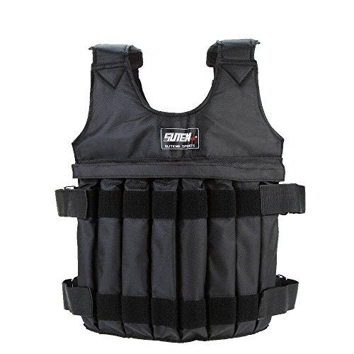 Yosoo Weighted Vest Adjustable Weight Jacket Workout Weight Jacket Exercise Boxing Training Fitness (50KG)
