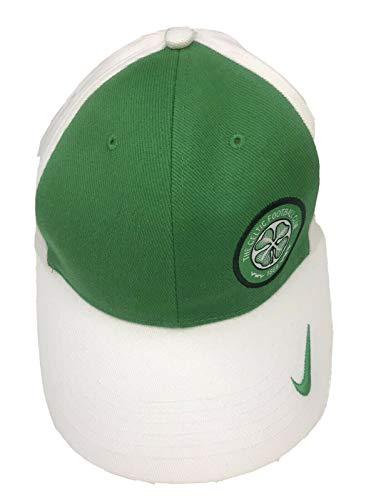 NIKE Gorra de fútbol celta para adultos, talla L/XL 572874 100 verde/blanco
