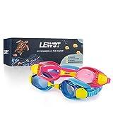 Lewot®️ Kinder Schwimmbrille – Kindertaucherbrille unglaublich Robustes Silikon [3-12 Jahre] – Anti-Fog Beschichtung und UV Schutz - Größenverstellbar – Inklusive Transportbox &