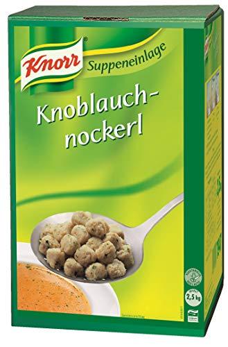 Knorr Knoblauchnockerl (vorgeformte Nockerl mit feinem Knoblauchgeschmack) 1er Pack (1 x 2,5 kg)