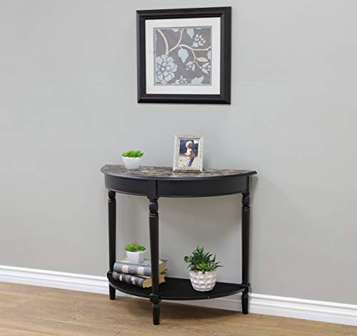 Frenchi Home Furnishing Entryway Table with Faux Marble Top
