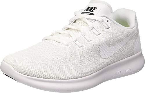 Nike Free Run 2017, Scarpe Running Donna, Bianco (White/white-black-pure Platinum), 39 EU