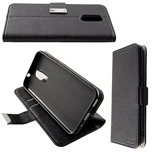 caseroxx Handy Hülle Tasche kompatibel mit Emporia Smart 3 Bookstyle-Hülle Wallet Hülle in schwarz