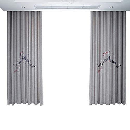 BGROEST-hm Schatten Vorhänge Blackout Curtain Panels Fenster Vorhänge - (graue Farbe) Isolier-Verdunkelung Verdunkelungsvorhänge for Schlafzimmer (Farbe : Grau, Größe : 320x280cm)