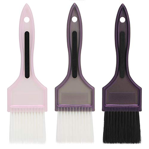 3 pcs Hair Dye Color Brush Set, Segbeauty Professional Salon Hair Balayage Coloring Tool, Variety Color Highlight Tint Brushes Combs Set with Soft Bristle Hair Painting Brushes