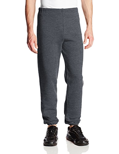 Russell Athletic Men's Dri-Power Closed Bottom Sweatpants (No Pockets), Black Heather, Small
