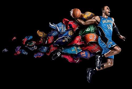 WSXYD 1000 Piezas Rompecabezas Creativo Puzzle Adultos Jugador de Baloncesto de la NBA * Regalo para niño cartón Resistente desafío