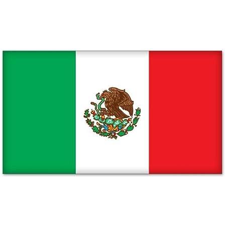 Mexico Flag Decal Bumper Sticker,Vinyl Sticker Macbook Sticker Cooler Sticker Car Decal Mexican Flag Car Window Decal Mailbox Sticker