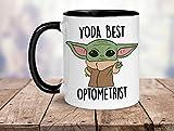 Yoda Best Optometrist, tazza Best Optometrist, Best Optometrist, Baby Yoda, regalo divertente per Optometrist, regalo ideale per Optometrist, Optometrista
