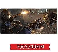 マウスパッドレインボー包囲速度 ゲームマウスパッド  XXLマウスパッド  700 x 300mm大型 完璧な精度とスピード C