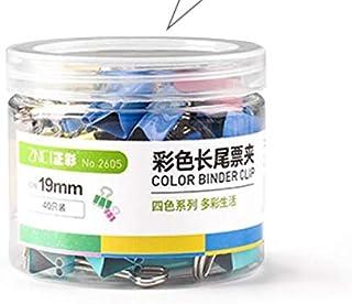 مشابك تثبيت ورق معدنية قابلة للطي من الخلف للمستلزمات المكتبية 19mm