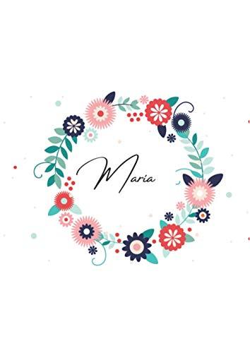 Cuaderno de nombre: María/ A4, 120 páginas / Rayas, subrayado, numerado