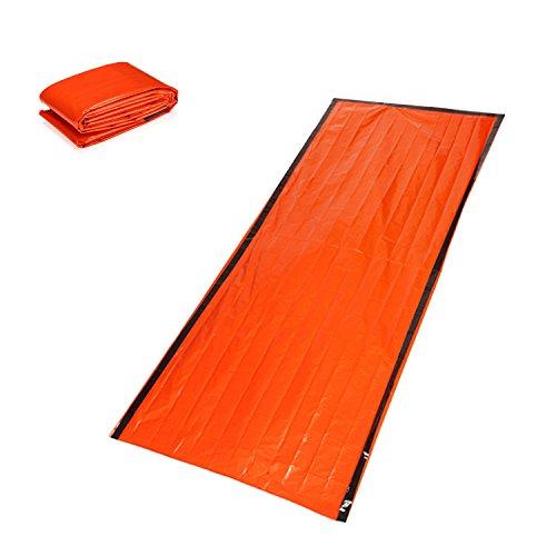ZDJ Notfallschlafsack, 3 Stück Warmhaltekörpertemperatur Reflective Windsicher Regenfest Wiederverwendbare Für Das Überleben in Wild Rettung Pflegen