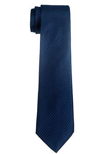 Retreez Jungen Gewebte Krawatte Textur Gestreifte - 8-10 Jahre - marineblau