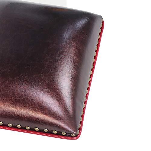 EREAL Weiche Tasche Leder Dicke Schwamm Kissen,Kartensitzkissen Xuanguan Wechseln Inhock Kissen-Kaffee 20 * 30 * 6cm