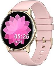 YAMAY Smartwatch Donna Uomo Orologio Fitness Cardiofrequenzimetro da Polso Smart Watch Activity Tracker Contapassi Conta...