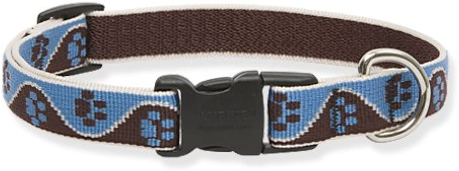 Lupine Muddy Paws Adjustable Collar for Dogs with 15to25Inch Necks, .75Inches Wide