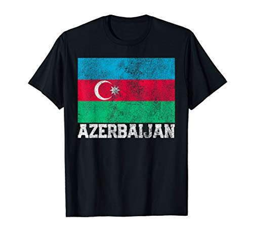 Azerbaijan Flag National Pride Roots Country Family Gift T-Shirt