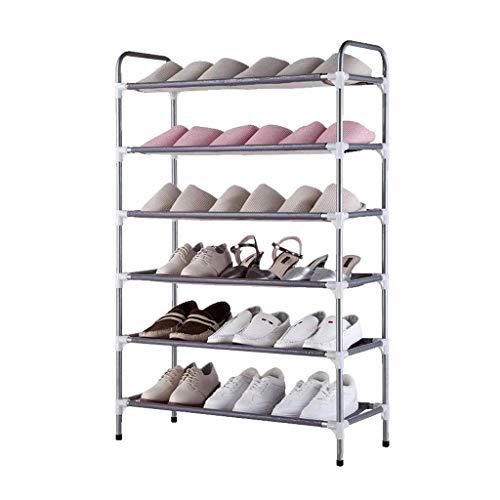 XXCHUIJU Zapato Rack Zapato Almacenamiento gabinete de Almacenamiento Metal 6 Niveles apilable Footware Muebles Pasillo Entrada Organizador Armario Estante de pie Simple Zapatos Lavables Organizador
