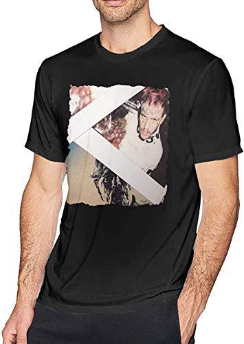 Fziee Lil Peep-Goth Angel Sinner Herren Classic Kurzarm T-Shirt Schwarz Gr. 58, Schwarz