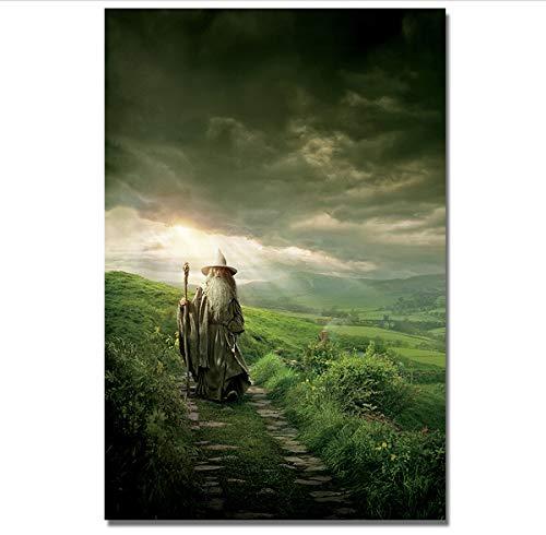 MXIBUN Pintura de Lienzo El Hobbit Movie Cartel Impresión Cuadro de Arte de Pared Regalo Decoración para el hogar sin Marco 50 * 75 cm