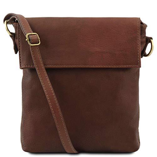 Tuscany Leather Morgan Sac bandoulière en Cuir Marron